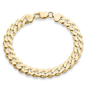 Other - Men's Cuban Link Curb Chain Bracelet Gold Silver